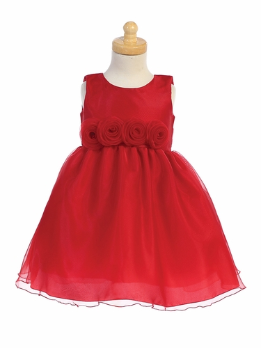 Swea Pea & Lilli C517 Red Crystal Organza Dress