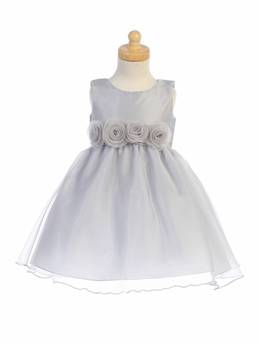 Swea Pea & Lilli C517 Silver Crystal Organza Dress