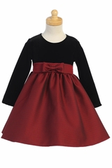 Swea Pea & Lilli C525 Stretch Velvet & Jacquard Dress
