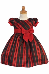 Swea Pea & Lilli C532 Red Plaid Dress w/ Bow