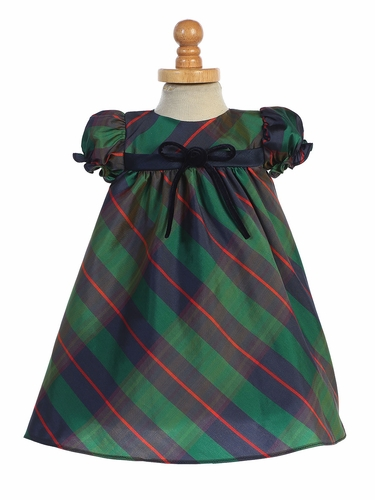 Swea Pea & Lilli C537 Green Plaid Baby Dress