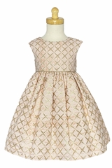 Swea Pea & Lilli C544 Blush Pink Metallic Diamond Jacquard Dress