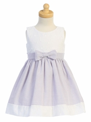 Swea Pea & Lilli M761 Lilac Embroidered Eyelet w/ Seersucker Skirt