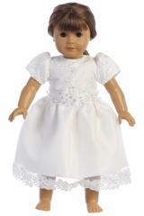 "Swea Pea & Lilli SP167 Embroidered Lace With Sequins On Tulle Dress 18"" Doll Dress"
