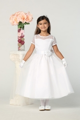 Swea Pea & Lilli SP169 Embroidered Tulle Bodice w/ Organza Skirt