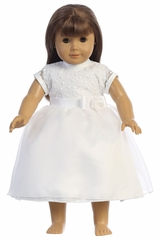 Swea Pea & Lilli SP169Z Embroidered Tulle Bodice w/ Organza Skirt Doll Dress
