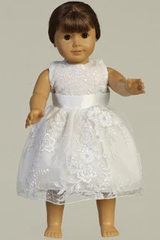 Swea Pea & Lilli SP175Z Sleeveless Lace w/ Sequins Doll Dress
