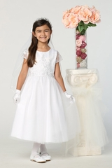 Swea Pea & Lilli SP177 Embroidered Bodice & Tulle Skirt Dress