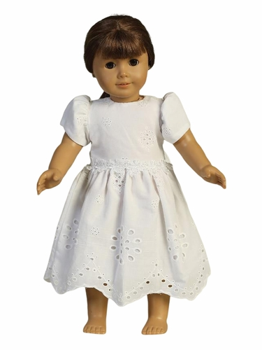 Swea Pea & Lilli SP179Z Cotton Eyelet w/ Lace Detail Doll Dress