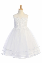 Swea Pea & Lilli SP706 Accented Applique w/ 3- Tiered Tulle Skirt