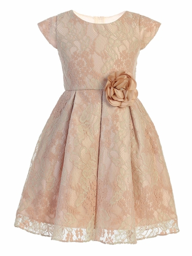 Sweet Kids SK791 Blush and Sage Floral Vintage Lace