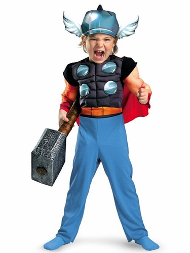 Thor Toddler Muscle Boys Costume
