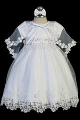 Tip Top Kids 2344 Satin & Tulle w/ Lace Applique and Matching Cape