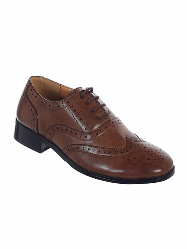 Tip Top Kids S121 Boy's Brown Formal Wear Shoes