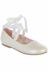 Tip Top S126 Girls Ribbon Ankle Tie Mary Jane