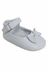 White Infant Girls Bow Detailed Dress Shoes