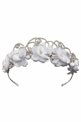Swea Pea & Lilli UL8214 White Floral & Beaded Head Wreath