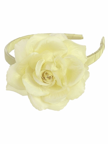 Yellow Headband w/ Large Rose