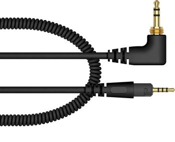 Pioneer HC-CA0701-K 47 inch (1.2m) Replacement Coiled Cable for black HDJ-S7-K H