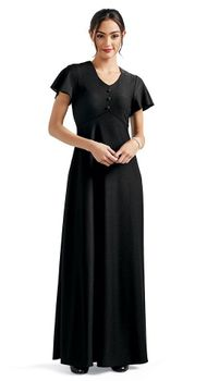 3 Button Knox Dress in Concert Black