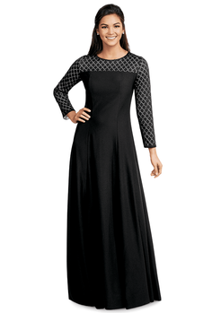 Long Sleeve Brandy Formal Dress