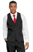 Men's 5 Button  Poplin  Vest