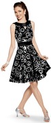 "Silver Swirl ""Staci"" Dress"