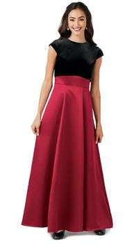 Velvet & Satin Kasper Dress for Women