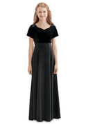 Youth Alixandra Dress<br>Velvet and Crepe Orchestra Gown
