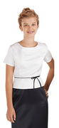 Youth Brahms Top<br>Short Sleeve Blouse in Satin