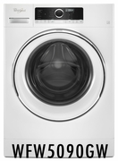 """24"""" Whirlpool 2.3 Cu. Ft. Compact Front Load Washer with Guided Mode and Prewash Option - White WFW5090GW"""