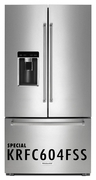 KitchenAid 23.8 cu. ft. Counter-Depth French Door Refrigerator with LED Interior Lighting and Automatic Ice Maker Stainless Steel 2KRFC604FSS