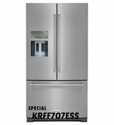 KitchenAid 26.8 cu. ft. Platinum Interior French Door Refrigerator with Exterior Ice and Water 2KRFF707ESS