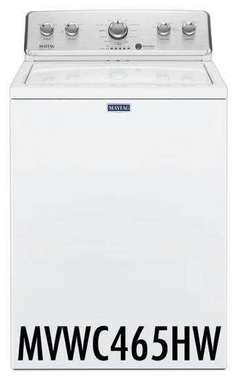 Maytag 3.8 Cu. Ft. Top Load Washer with 12 Wash Cycles and 2 Water Level Options, White MVWC465HW