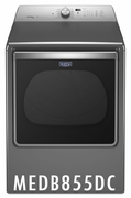 Maytag 8.8 cu. ft. Capacity Dryer with 11 Dry Cycles, 5 Temperature Settings, Energy Star Certified, IntelliDry� Sensor, Sanitize Cycle in Metallic Slate MEDB855DC