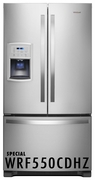 Whirlpool 20 cu. ft Counter Depth French Door Refrigerator with Humidity Controlled Crispers and Spillproof Glass Shelves - Fingerprint Resistant Stainless Steel 2WRF550CDHZ