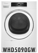 "Whirlpool 24"" 4.3 cu. ft. True Ventless Heat Pump Compact Dryer with Wrinkle Shield Option and Refresh Cycle - White WHD5090GW"