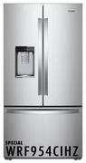 Whirlpool 24 Cu. Ft. Counter Depth French Door Free Standing Refrigerator with Freeze Shield and LED Lighting - Fingerprint Resistant Stainless Steel 2WRF954CIHZ