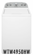 Whirlpool 3.9 cu. ft Washer with Water Level Selection and Smooth Impeller - White WTW4950HW