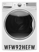 Whirlpool 4.5 Cu. Ft. Front Load Washer with Steam Clean Option - White WFW92HEFW