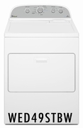 Whirlpool 7.0 cu. ft. Capacity Electric Dryer with 13 Dry Cycles, 3 Temperature Settings, AccuDry� in White WED49STBW