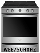 Whirlpool Smart Slide-In Range with Frozen Bake Technology and True Convection Cooking and Fingerprint Resistant Stainless Steel WEE750H0HZ