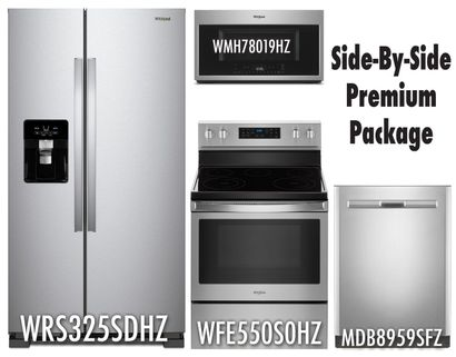 Whirlpool Stainless Steel Premium Package SBS!