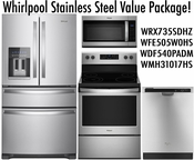 Whirlpool Stainless Steel Value Package 4 Door!