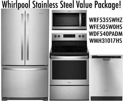 Whirlpool Stainless Steel Value Package FD!