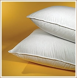 Down Lite ® 50% White Goose Down 50% White Goose Feather Queen Pillow as Featured at the W Hotel (2 Queen Pillows)