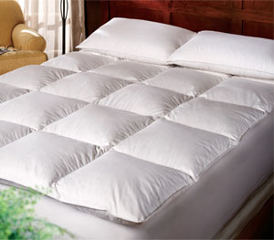 Pacific Coast ® Gusseted Baffle Box Feather Bed- Queen Size- Featured in Many Marriott Hotels