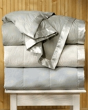 Pacific Coast ® Clover/Sage Color Satin Trim Down Blankets