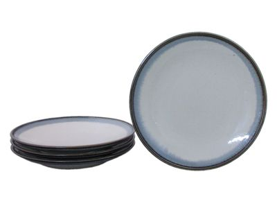 10-1/8 Inch Glacier Ice Japanese Dinner Plate Set for Four