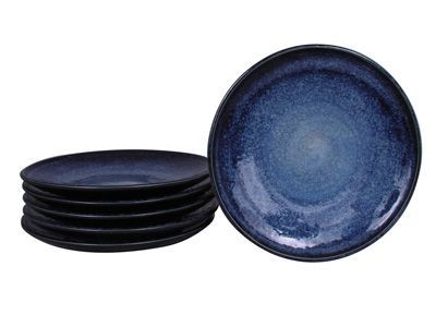 7-1/2 Inch Starry Night Japanese Plate Set for Six